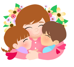 Mothers Day Hugs clip art
