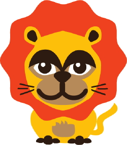 Orange Lion clip art