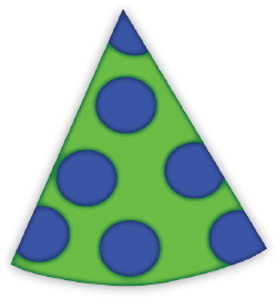 Party Hat With Polka Dots clip art