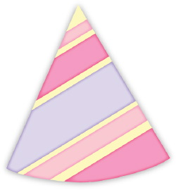 Party Hat With Stripes clip art