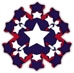 Patriotic Flower clip art