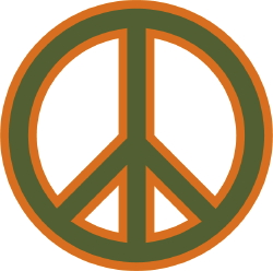 Peace and Love Sign clip art