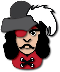 Pirate Captain clip art
