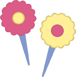 Pointy Flowers clip art