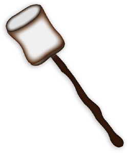 Roasted Marshmallow clip art