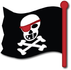 Skull And Crossbones Flag clip art