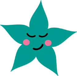 Sleeping Star clip art
