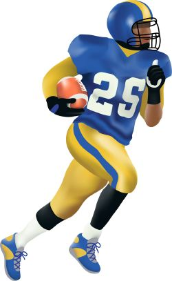Football Running Back clip art