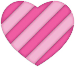Striped Heart clip art