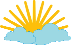 Sun And Clouds clip art