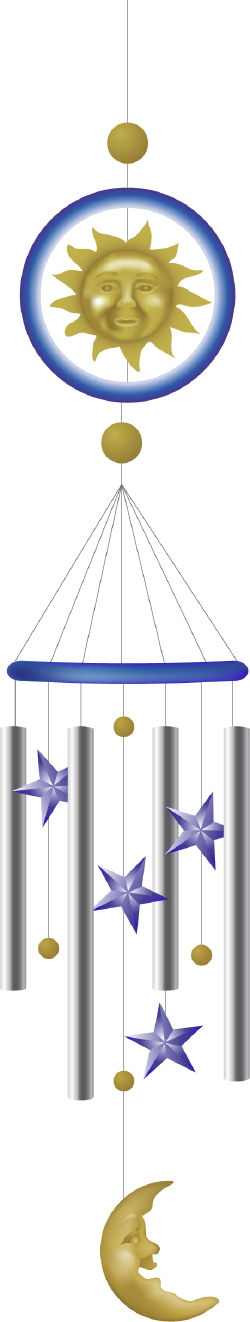 Sun And Moon Wind Chimes clip art