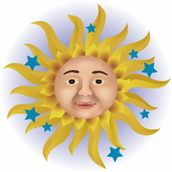 Sun And Stars clip art
