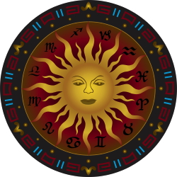 Sun And Symbols clip art