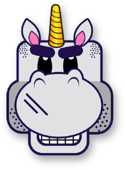 Tough Unicorn clip art