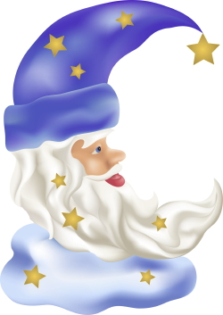 Wizard And Stars clip art