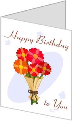 Birthday Card clip art