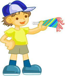 Birthday Party Boy clip art