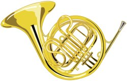 French Horn clip art