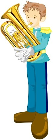 Horn Player clip art