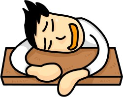 Sleeping Student clip art