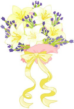Wedding bouquet clip art
