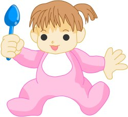 Baby with Spoon clip art