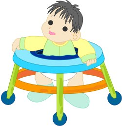 Baby with Walker clip art