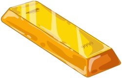 Gold Bar clip art